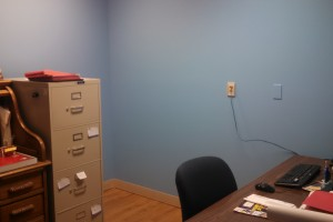 Fresh paint in the director's office
