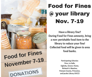 Food for Fines @ your library