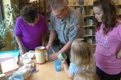 2017 07 26 1 Ranger Bob prepares animal footprint casts
